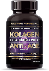 Kolagen + hialuron + wit C ANTI-AGE 90 tab. (45g)