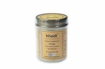 Pomarańczowa maseczka do twarzy Khadi
