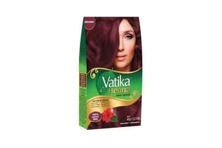 Farba do włosów z henną Vatika - burgund 60g