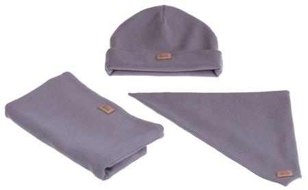 Komplet czapka chusta i komin: PIÓRKO