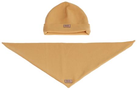 Komplet czapka i chusta: SŁONECZNY UŚMIECH
